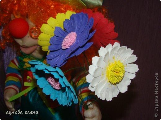 Куклы Шитьё Клоун Капрон Ленты Проволока Ткань фото 6