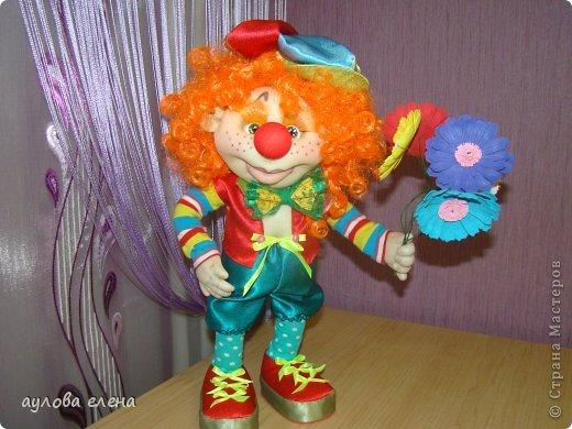 Куклы Шитьё Клоун Капрон Ленты Проволока Ткань фото 4