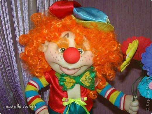 Куклы Шитьё Клоун Капрон Ленты Проволока Ткань фото 1