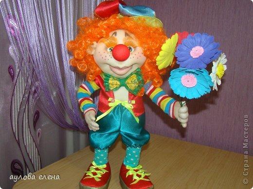 Куклы Шитьё Клоун Капрон Ленты Проволока Ткань фото 2