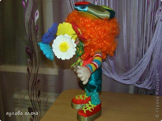 Куклы Шитьё Клоун Капрон Ленты Проволока Ткань фото 3