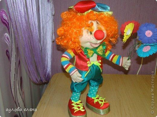 Куклы Шитьё Клоун Капрон Ленты Проволока Ткань фото 7