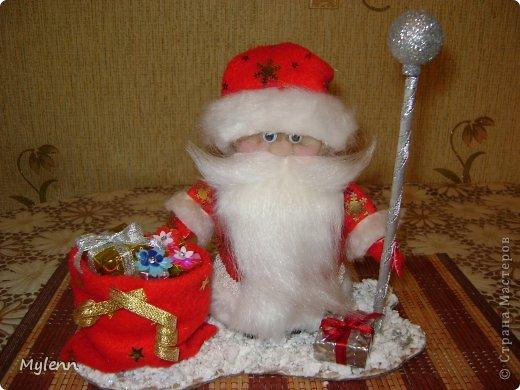 Игрушка Мастер-класс Новый год Шитьё Дед Мороз Ткань фото 1