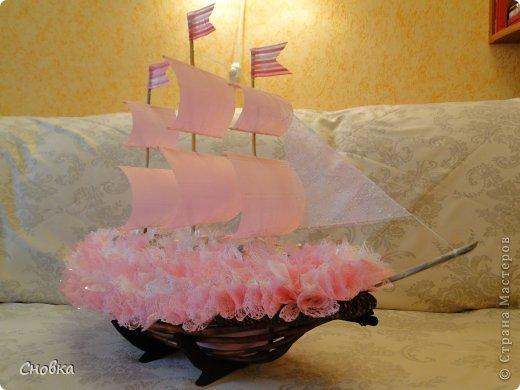 Мастер-класс Свит-дизайн Моделирование конструирование Кораблик Бумага Бумага гофрированная Продукты пищевые фото 1
