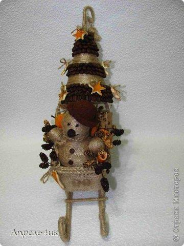 Мастер-класс Поделка изделие Новый год Моделирование конструирование Готовь сани осенью или в гости к Деду Морозу Клей Кофе Материал бросовый Проволока Шишки Шпагат фото 7