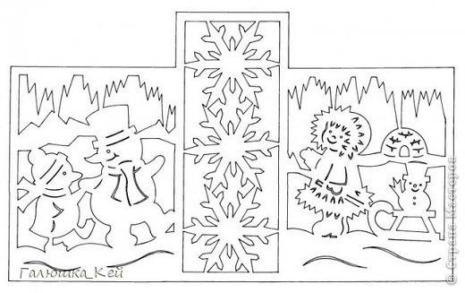 Поделка изделие Новый год Вырезание Зимние развлечения Бумага фото 3