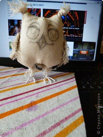 Игрушка Мастер-класс Новый год Шитьё Ароматизированная кукла Сова Ткань фото 3