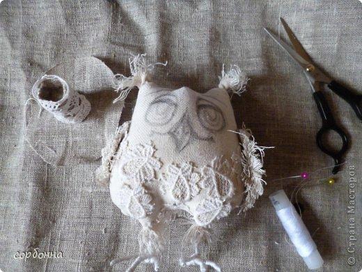 Игрушка Мастер-класс Новый год Шитьё Ароматизированная кукла Сова Ткань фото 7