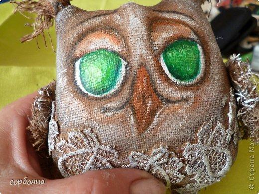 Игрушка Мастер-класс Новый год Шитьё Ароматизированная кукла Сова Ткань фото 14