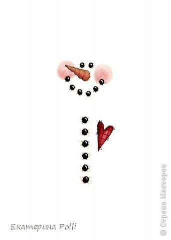 Декор предметов Новый год Аппликация Оформление шоколадок Снеговики Бумага Фетр фото 6