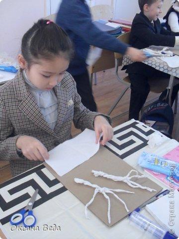 Мастер-класс Начало учебного года Аппликация Рисование и живопись 2 класс Осеннее дерево Гуашь Картон Клей Салфетки фото 5