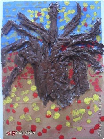 Мастер-класс Начало учебного года Аппликация Рисование и живопись 2 класс Осеннее дерево Гуашь Картон Клей Салфетки фото 13