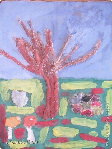 Мастер-класс Начало учебного года Аппликация Рисование и живопись 2 класс Осеннее дерево Гуашь Картон Клей Салфетки фото 20