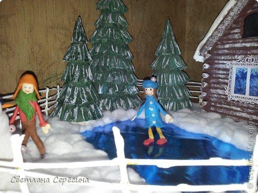 Поделка изделие Новый год Поделка к Новому году в садик Бисер Бумага Вата Гуашь Клей Материал природный Скотч фото 5