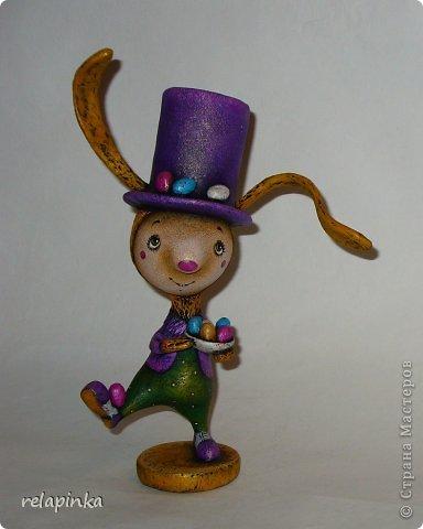 Игрушка Мастер-класс Пасха Папье-маше Рисование и живопись Пасхальный кролик поэтапные фоты росписи  Бумага Краска фото 1