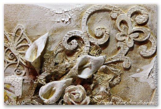 Картина панно рисунок Мастер-класс Скрапбукинг Ассамбляж МК коллаж на холсте фото 16
