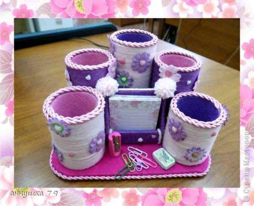 Декор предметов Валентинов день Органайзер для дочери Картон Клей Нитки Фетр фото 1