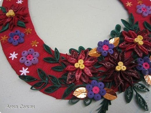 Коллективная работа Новый год Бумагопластика Квиллинг Итоги конкурса Рождественская звезда Бумажные полосы фото 8