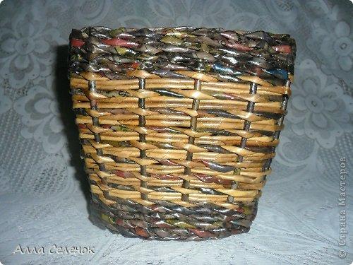 Поделка изделие Плетение Плетеночки Трубочки бумажные фото 2