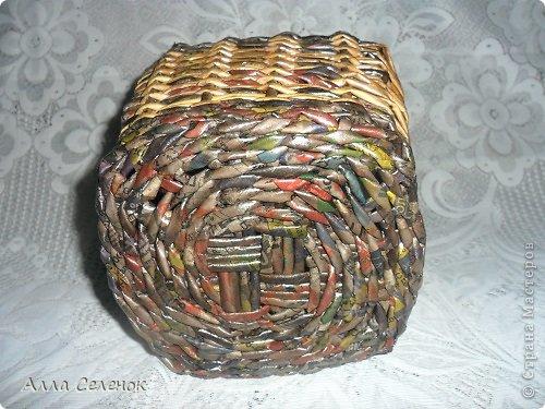Поделка изделие Плетение Плетеночки Трубочки бумажные фото 4