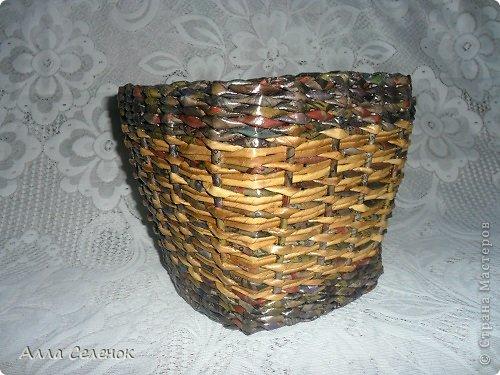 Поделка изделие Плетение Плетеночки Трубочки бумажные фото 5