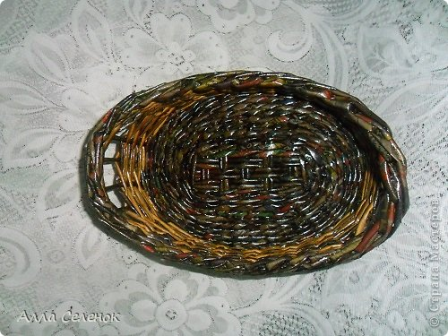 Поделка изделие Плетение Плетеночки Трубочки бумажные фото 8