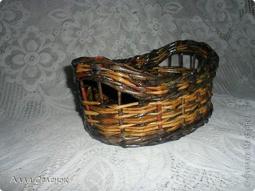Поделка изделие Плетение Плетеночки Трубочки бумажные фото 9