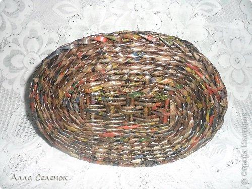 Поделка изделие Плетение Плетеночки Трубочки бумажные фото 10