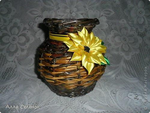Поделка изделие Плетение Плетеночки Трубочки бумажные фото 11