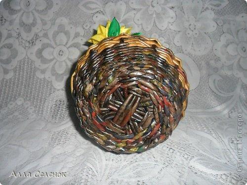 Поделка изделие Плетение Плетеночки Трубочки бумажные фото 16