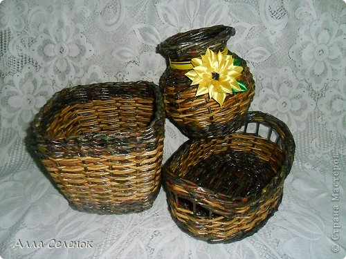 Поделка изделие Плетение Плетеночки Трубочки бумажные фото 1