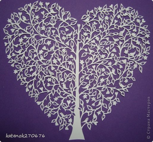 Картина панно рисунок Валентинов день Новый год Бисероплетение Вырезание Любите и будьте любимы   Бисер Бумага Пайетки фото 7