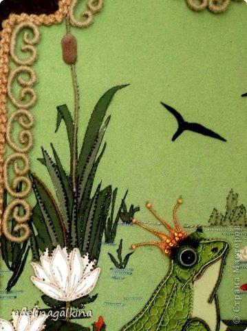 Картина панно рисунок 8 марта Макраме Макраме-пано от Петерс Розы  царевна- лягушка Нитки фото 2