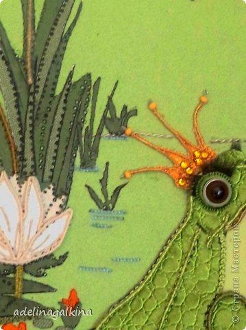 Картина панно рисунок 8 марта Макраме Макраме-пано от Петерс Розы  царевна- лягушка Нитки фото 3