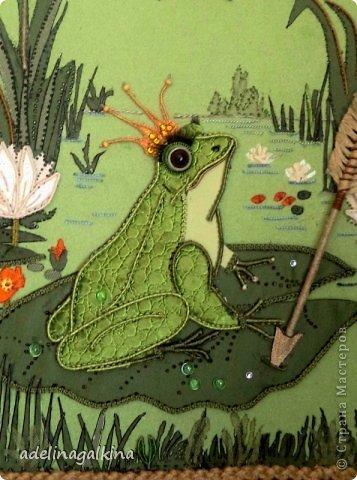 Картина панно рисунок 8 марта Макраме Макраме-пано от Петерс Розы  царевна- лягушка Нитки фото 4
