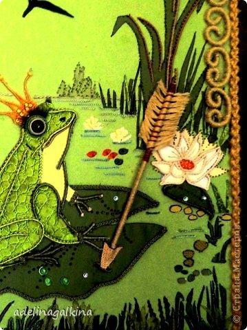 Картина панно рисунок 8 марта Макраме Макраме-пано от Петерс Розы  царевна- лягушка Нитки фото 5