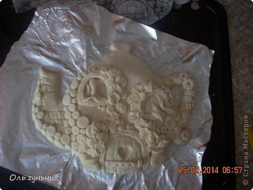 Мастер-класс Поделка изделие Лепка Чайник с чашечками Тесто соленое фото 13