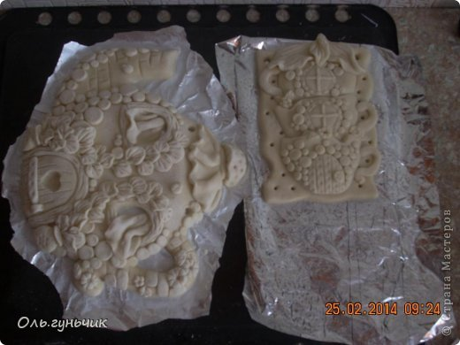 Мастер-класс Поделка изделие Лепка Чайник с чашечками Тесто соленое фото 15