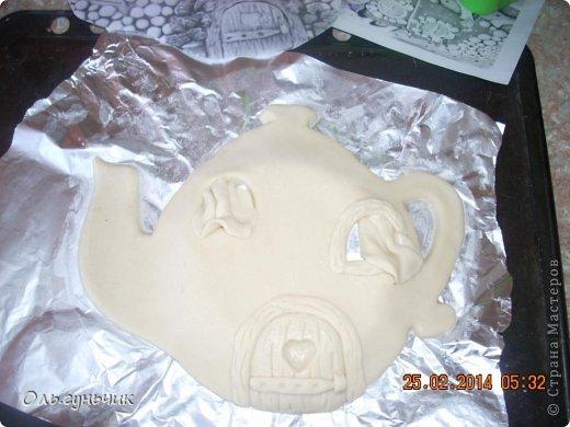 Мастер-класс Поделка изделие Лепка Чайник с чашечками Тесто соленое фото 9
