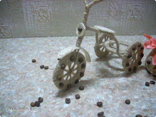Мастер-класс Поделка изделие 8 марта Моделирование конструирование Шпагатный велосипед МК Кофе Проволока Шпагат фото 14
