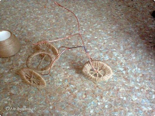 Мастер-класс Поделка изделие 8 марта Моделирование конструирование Шпагатный велосипед МК Кофе Проволока Шпагат фото 24