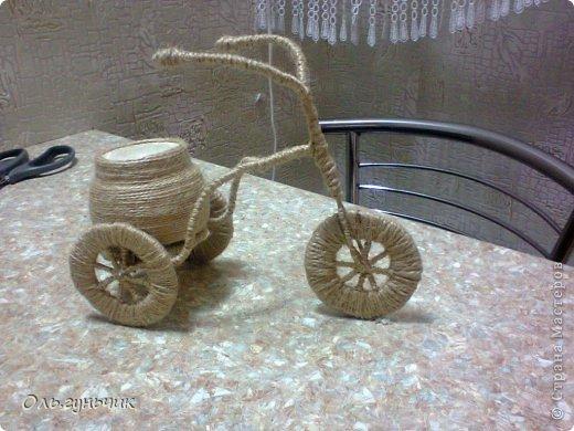 Мастер-класс Поделка изделие 8 марта Моделирование конструирование Шпагатный велосипед МК Кофе Проволока Шпагат фото 30