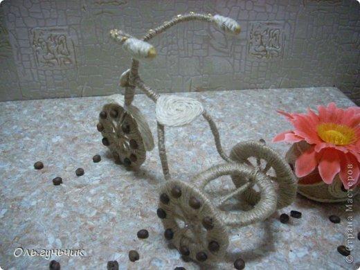 Мастер-класс Поделка изделие 8 марта Моделирование конструирование Шпагатный велосипед МК Кофе Проволока Шпагат фото 32