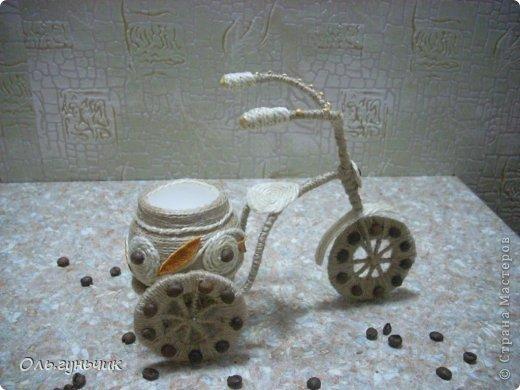 Мастер-класс Поделка изделие 8 марта Моделирование конструирование Шпагатный велосипед МК Кофе Проволока Шпагат фото 8