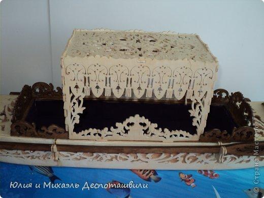 Поделка изделие Выпиливание Венецианская гондола Фанера фото 3
