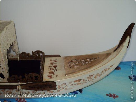 Поделка изделие Выпиливание Венецианская гондола Фанера фото 5