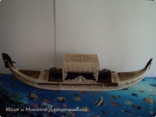 Поделка изделие Выпиливание Венецианская гондола Фанера фото 2