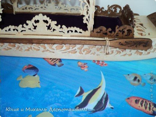 Поделка изделие Выпиливание Венецианская гондола Фанера фото 6