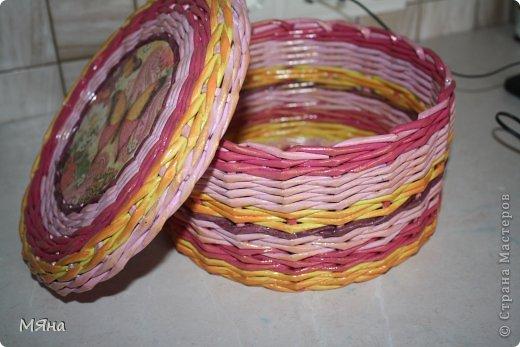 Мастер-класс Поделка изделие Плетение Как я делаю корзинки Бумага газетная фото 1