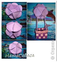Мастер-класс Поделка изделие Бумагопластика Моделирование конструирование МК - воздушный шар из бумаги Бумага фото 8